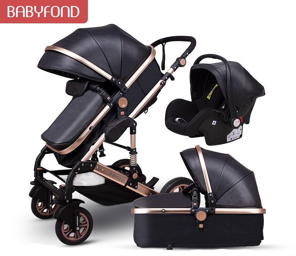 Babyfondベビーカーは高景観のベビーカーに横になることができます。