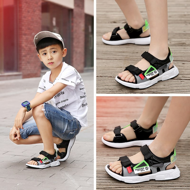Sandals for boys, boys and girls, 10 Korean version, primary school students, breathable fashion 8 boys sports shoes, 9-year-old boys tide shoes, beach shoes