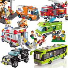 Enlightenment building block legao toy children puzzle assembly car boy assembly city series assembly model