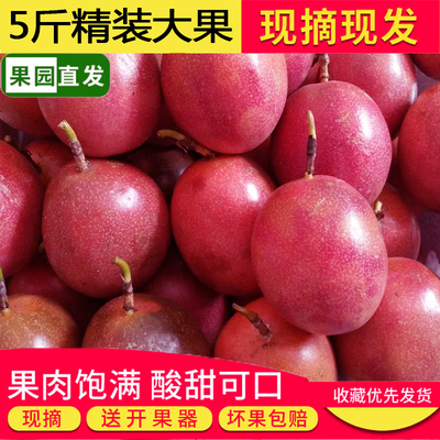 广西百香果热带水果新鲜西番莲鸡蛋现摘5斤特级大红果酸爽香甜10
