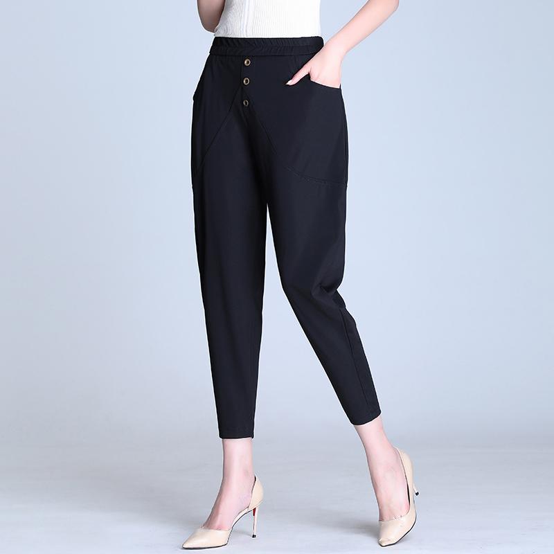 哈伦裤夏季雪纺九分裤韩版萝卜裤子限8000张券