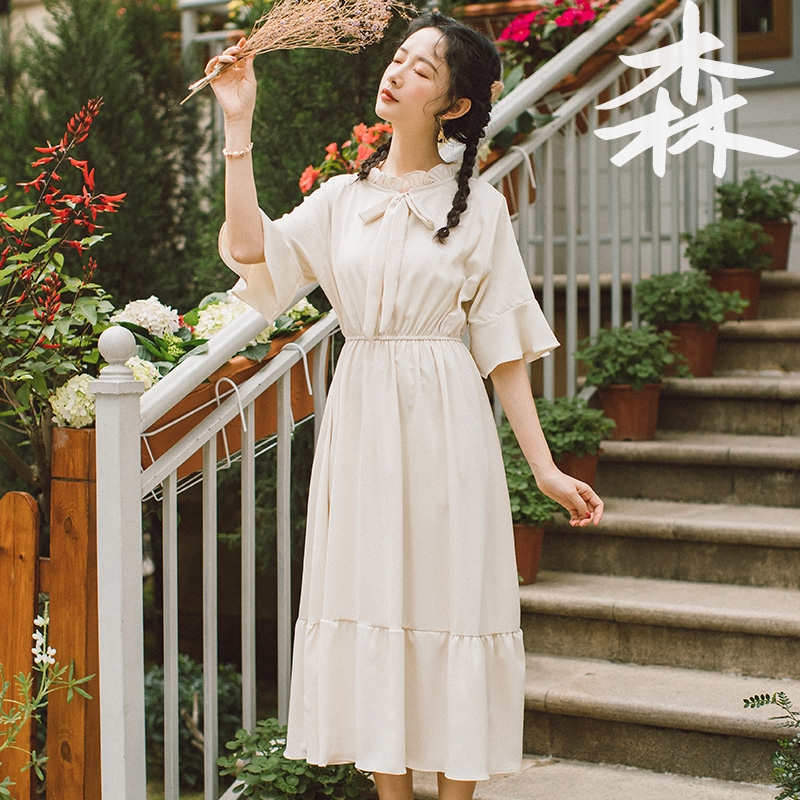 To ankle Japanese sweet Xianqi super xiansen dress female summer 2020 new student long skirt fairy skirt