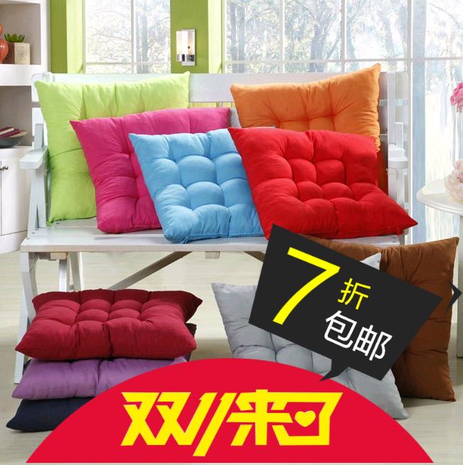 9.9包邮纯色磨毛学生椅子座垫餐椅垫 加厚坐垫珍珠棉填充不变形