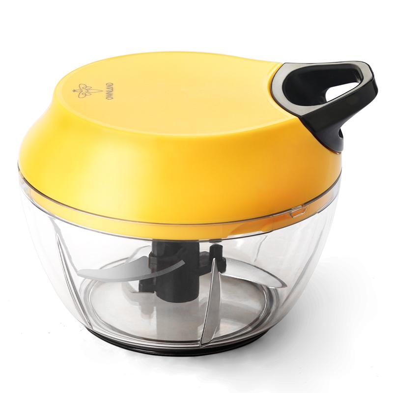宝宝辅食用绞肉机手动家用拉绳手拉绞肉菜机器料理蒜蓉机厨房神器