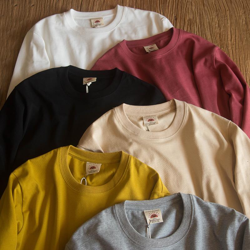 有赠品阿美咔叽重磅加厚纯棉纯色男t恤衫