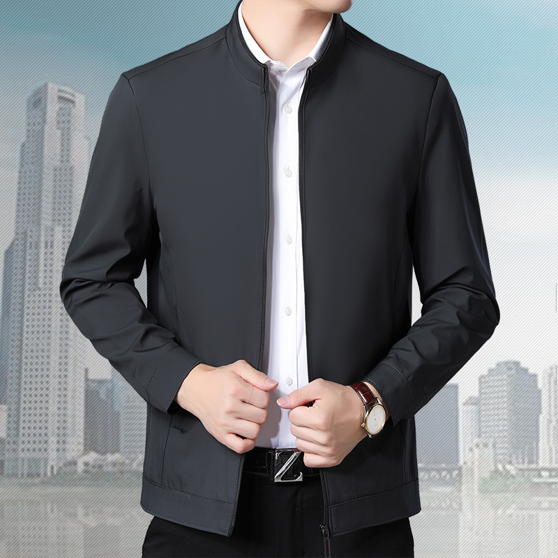 Woodpecker authentic 2021 autumn stand collar mens jacket solid color jacket good quality comfortable dad jacket