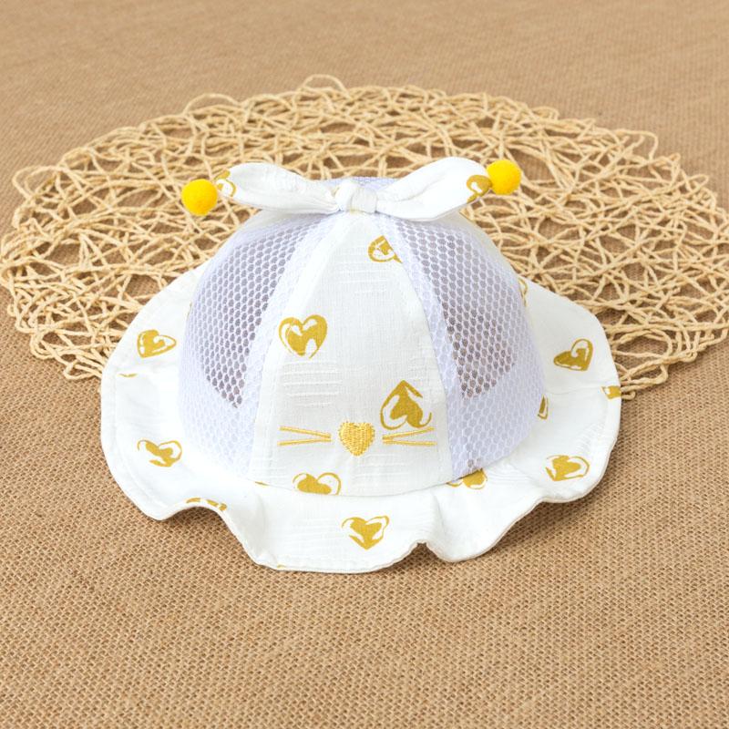 婴儿帽子夏季薄款渔夫太阳遮阳帽夏天男外出女宝宝新生儿防晒凉帽图片