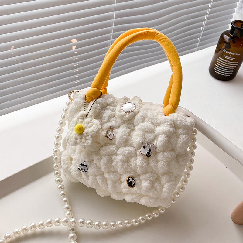 小蔻棉花糖云朵包diy手工编织包包冰条毛线材料包自制礼物送女友