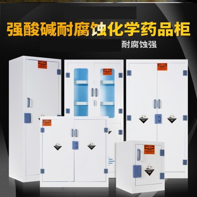 医院实验pp酸碱柜防腐蚀柜柜子带锁储存柜加仑试剂器耐腐蚀器皿柜