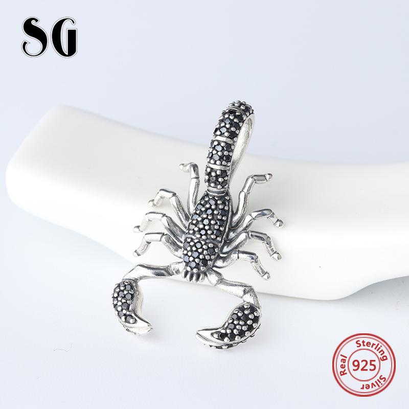 Strollgirl fashion Christmas scorpion beads charm Europe S925 pure silver original womens jewelry bracelet beads