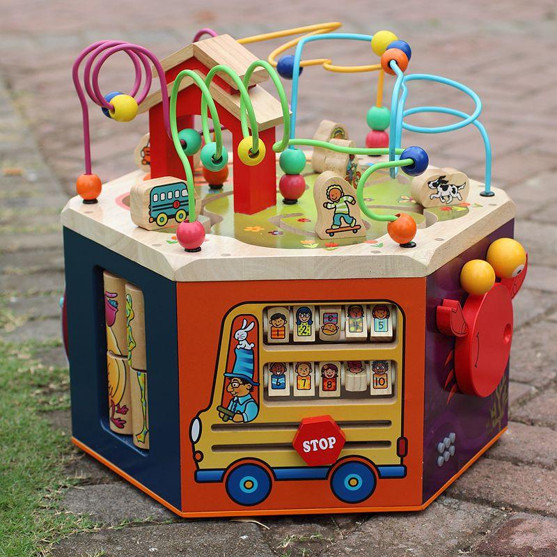 Большой обшитый бисером игрушка обучения в раннем возрасте обшитый бисером украшенный бусами ребенок ребенок головоломка 1-2-3-4 полный год подарок обшитый бисером переноска коробка