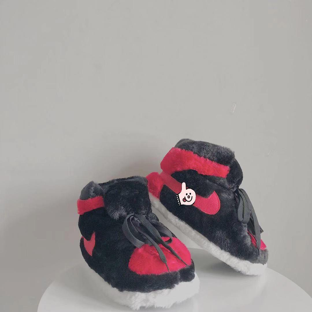 胖胖面包鞋A锥肥到未来发光棉鞋黑红恶搞潮牌保暖家居棉拖鞋