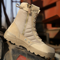 Special Forces army boots genuine military shoes flying desert land boots breathable tactical Boots High gang combat boots men Waterproof