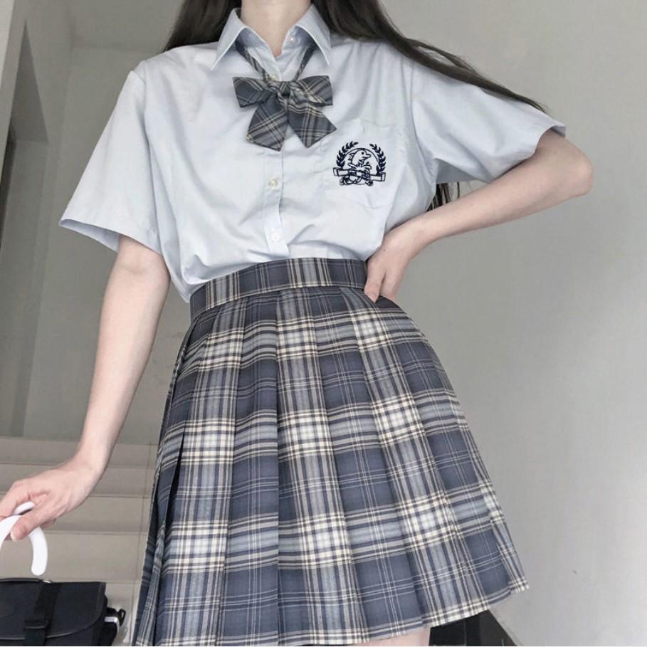 春夏季款jk制服全套班服日系赫本风短袖白衬衫女百褶学生韩版学生