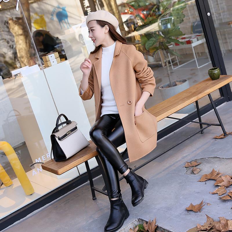 Ancient anti season coat womens double-sided tweed coat womens double-sided woolen coat 2018 new zero cashmere coat women