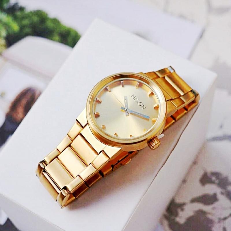代购Nixon尼克松腕表A160502金色钢带简约男女中性防水手表