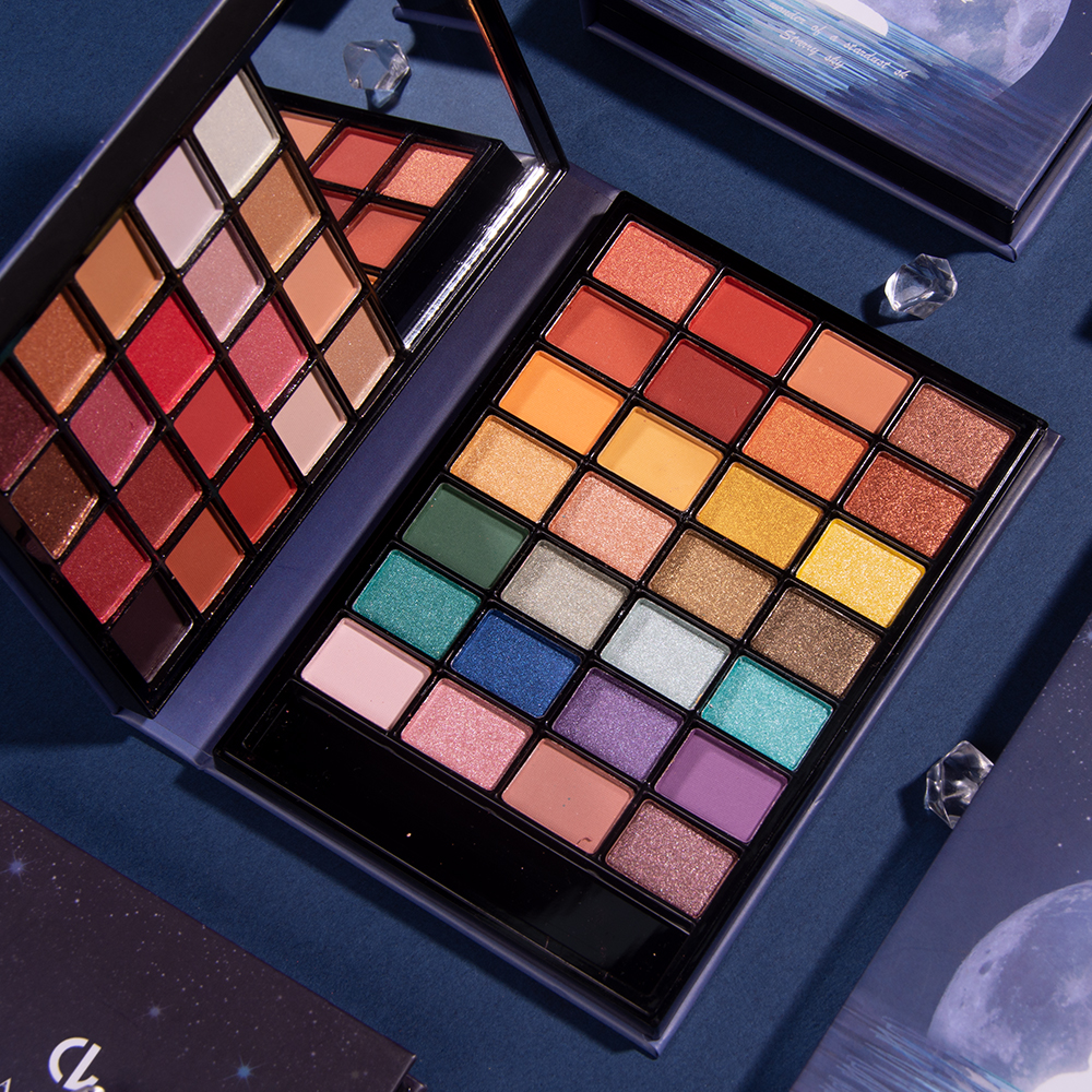 48 colors, dream, sky, eye shadow, small dish, convenient and warm orange milk, Purple Pearl, matte, vibrated voice, tiktok, red earth, and so on.
