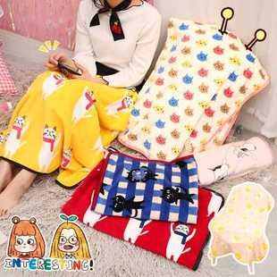 毛毯猫咪办公室日系午睡柔软毯空调毯韩国可爱卡通动物珊瑚绒