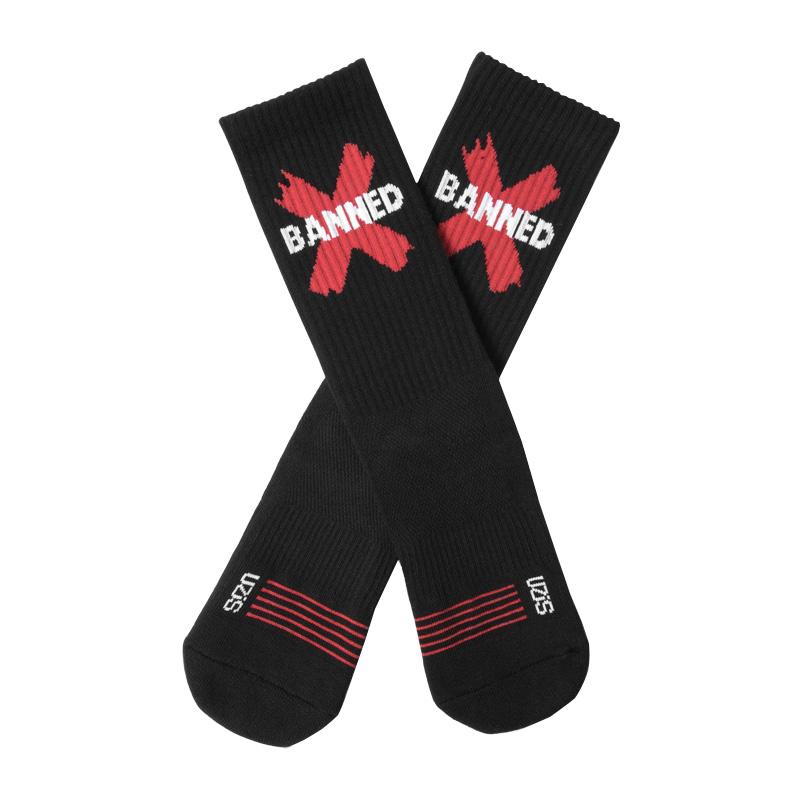 UZIS禁穿康扣熊猫专业球鞋搭配袜子篮球袜高帮配AJ1的袜子男长潮