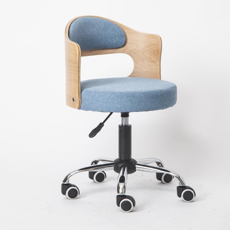 欧式实木靠背家用电脑椅 现代简约小户型办公书房椅 学生学习转椅