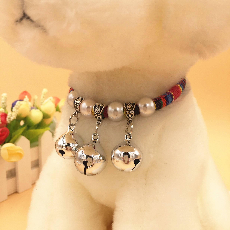 铃迪比泰宠物狗铃铛银中小型狗铃铛项圈项圈犬项链项圈铃铛项圈熊