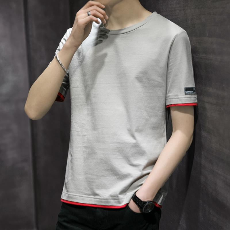 2019夏季新款男士短袖t恤半袖丅恤纯棉打底衫体恤上衣青年汗衫潮