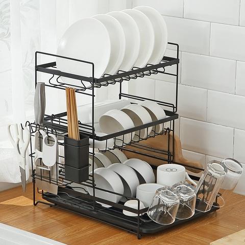 碗碟架厨房置物架台面餐具盘子筷子碗架落地沥水架晾放碗筷收纳架