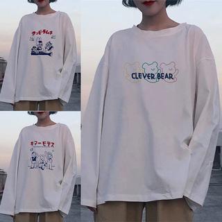 白色长袖女装上衣服chic港味春秋季冬内搭打底衫2020新款t恤ins潮