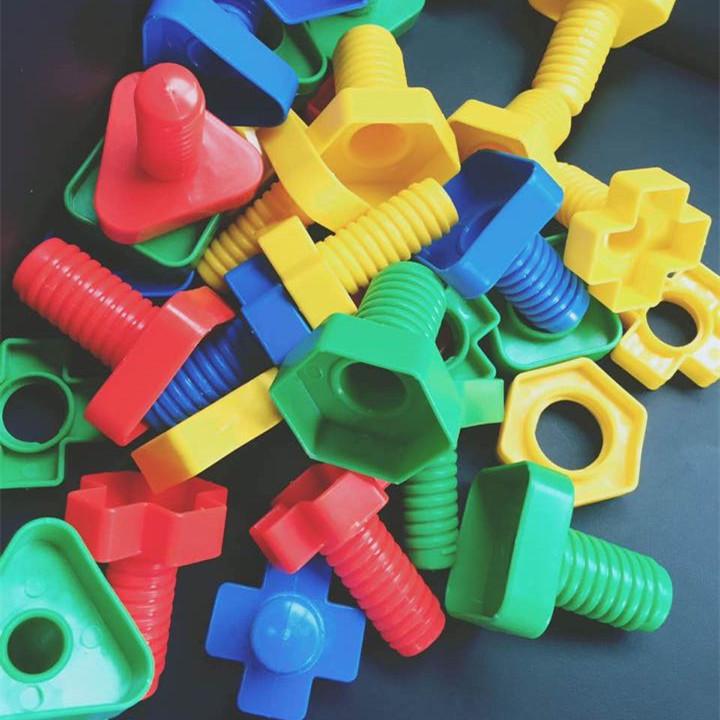 1-3 лет ребенок обучения в раннем возрасте учить игрушка винт коснуться для строительные блоки пластик заклинание вставить гайка разборка собранный головоломка сочетание