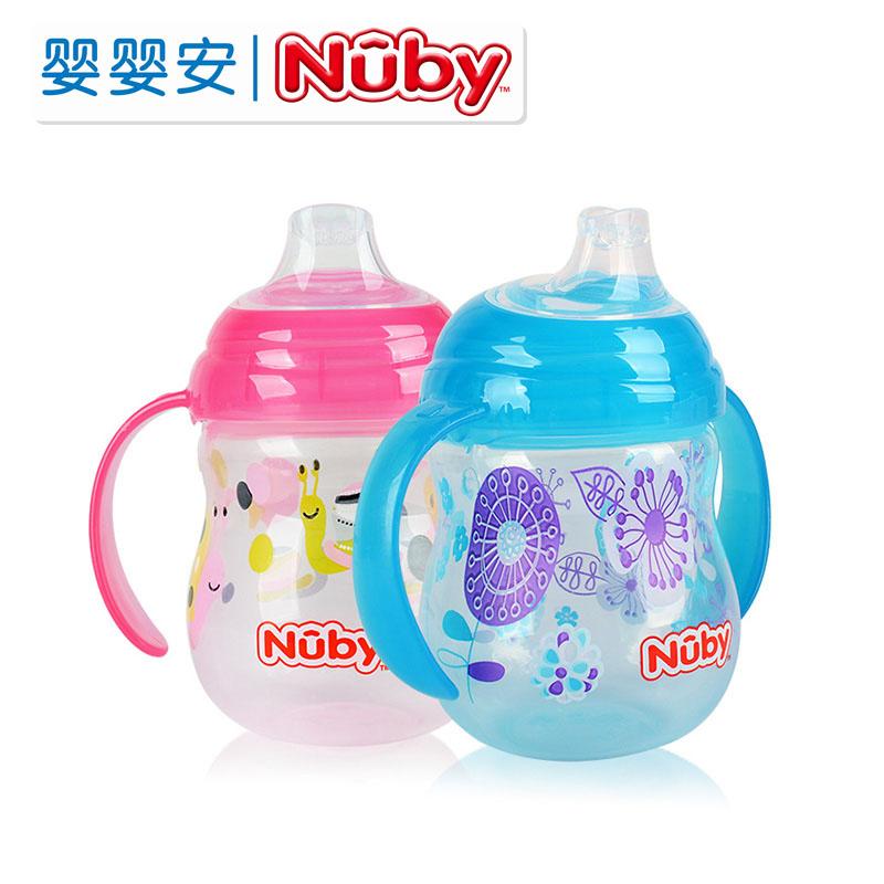 nuby宝宝学喝水防摔奶瓶过渡鸭嘴杯45.00元包邮