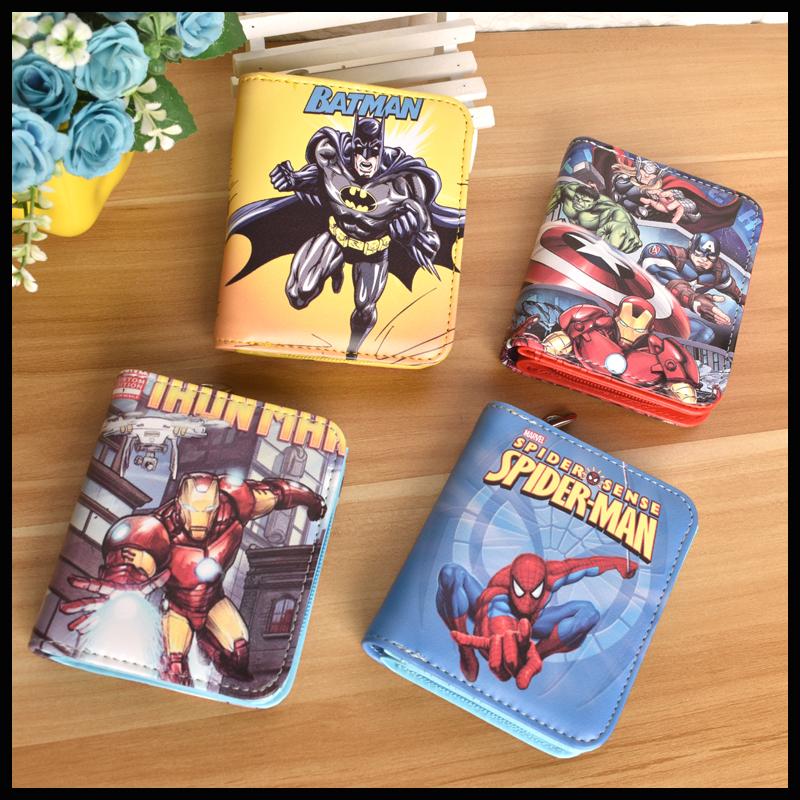 动漫卡通钱包钢铁机器侠漫威学生儿童青年短款拉链多功能零钱皮夹