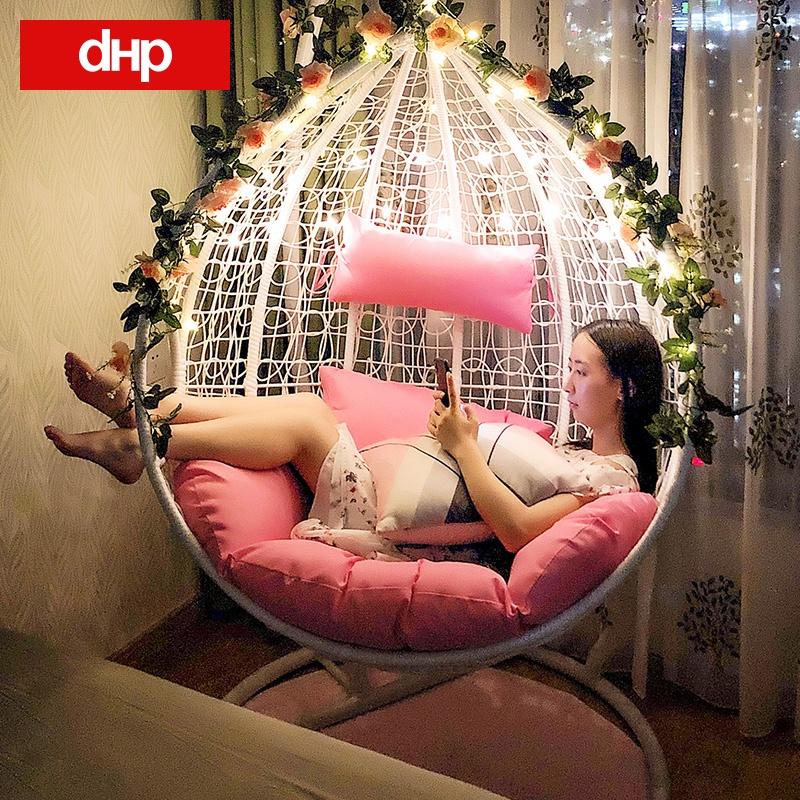 吊椅秋千吊篮藤椅家用休闲懒人室内落地阳台摇篮椅鸟巢吊床摇椅