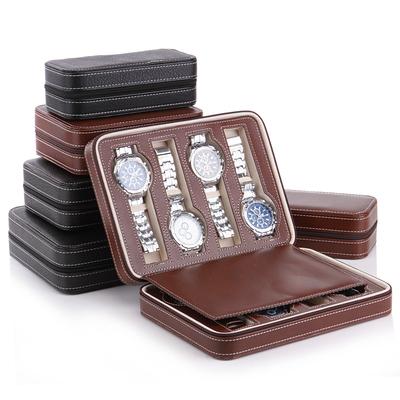名鱼简约8位拉链手表首饰收纳包 便携式旅行手表收纳盒名表收纳包