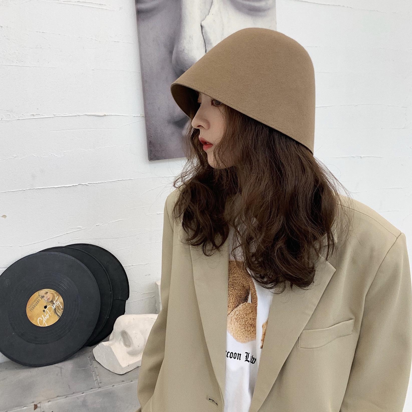 英伦复古钟型女士秋冬天潮渔夫帽子39.00元包邮