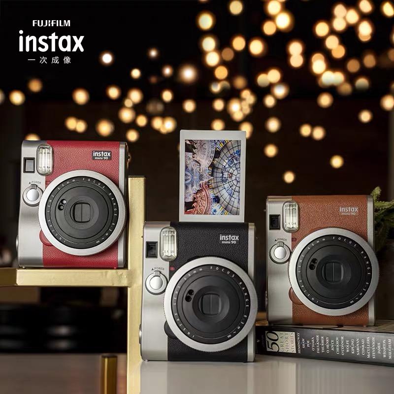 Fujifilm富士instax拍立得mini90相机一次成像复古迷你旗舰机