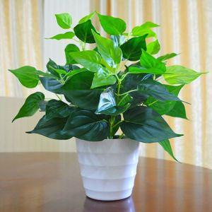 仿真绿萝盆栽假植物室内外装饰塑料小盆栽田园仿真花草假绿萝摆设