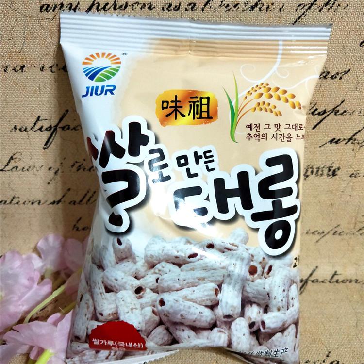 临期价 韩国进口零食品 九日牌打糕条膨化食品42克