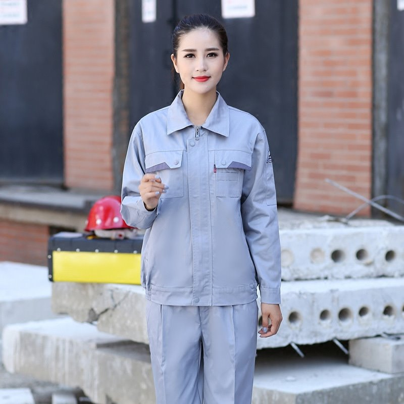 2021 new anti static overalls autumn and winter long sleeve car maintenance uniform gas station tooling customized lettering road and Bridge