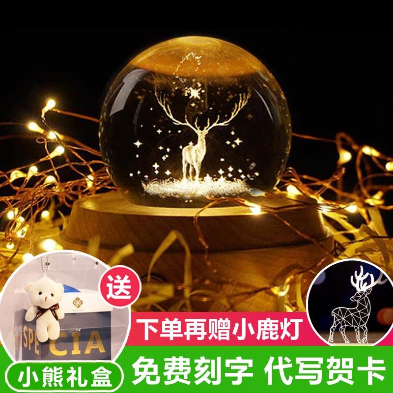 11月08日最新优惠水晶球音乐盒八音盒天空之城旋转女生生日礼物女友实用摆件教师节