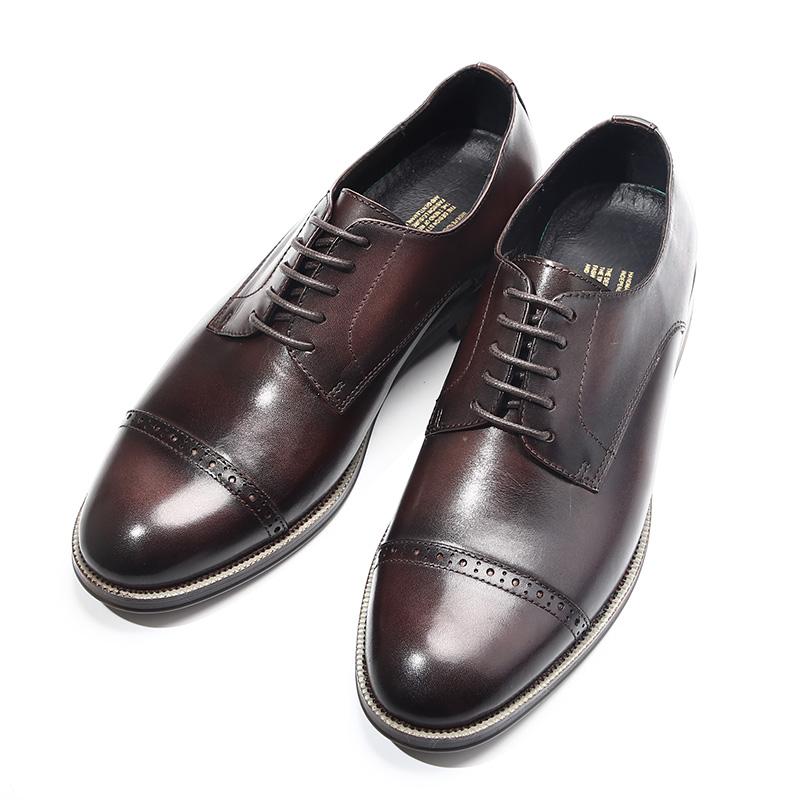 夏季英伦复古布洛克雕花三接头做旧手工鞋潮流休闲皮鞋男士牛津鞋