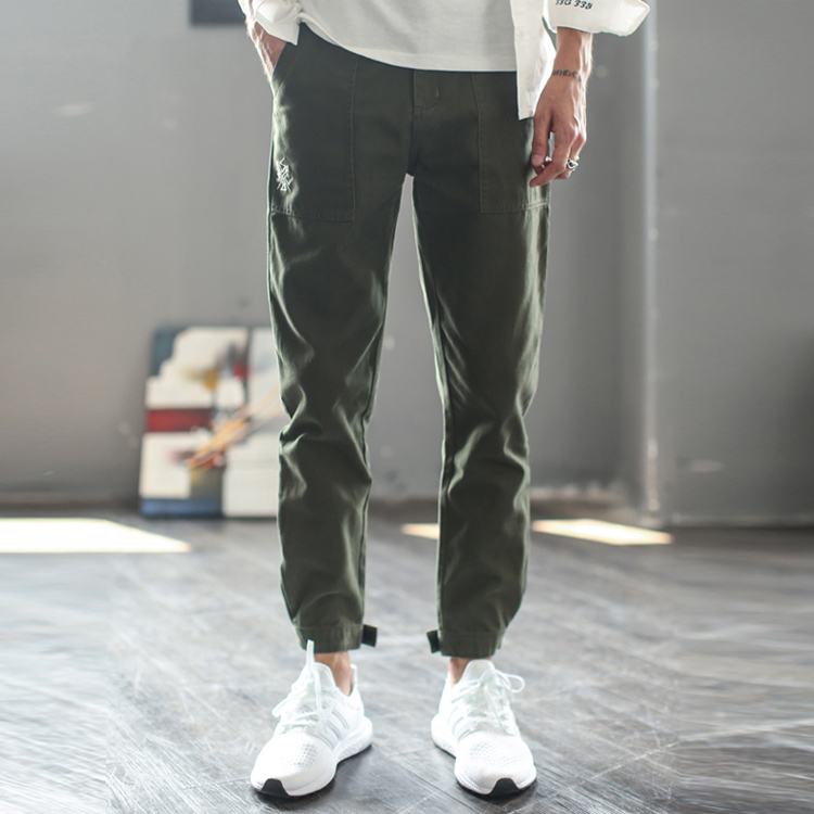 Nothomme casual pants small legged Leggings mens adjustable tapered pants overalls jogging pants