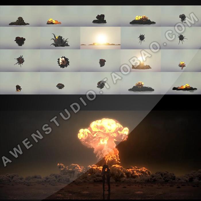 实景合成影视电影后期爆炸闪电地震破碎激光剑流星雨特效视频素材