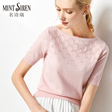Mint Siren 2009 Spring New Style Short-collar Short-sleeved Wool Sweater with Knitted Shirt