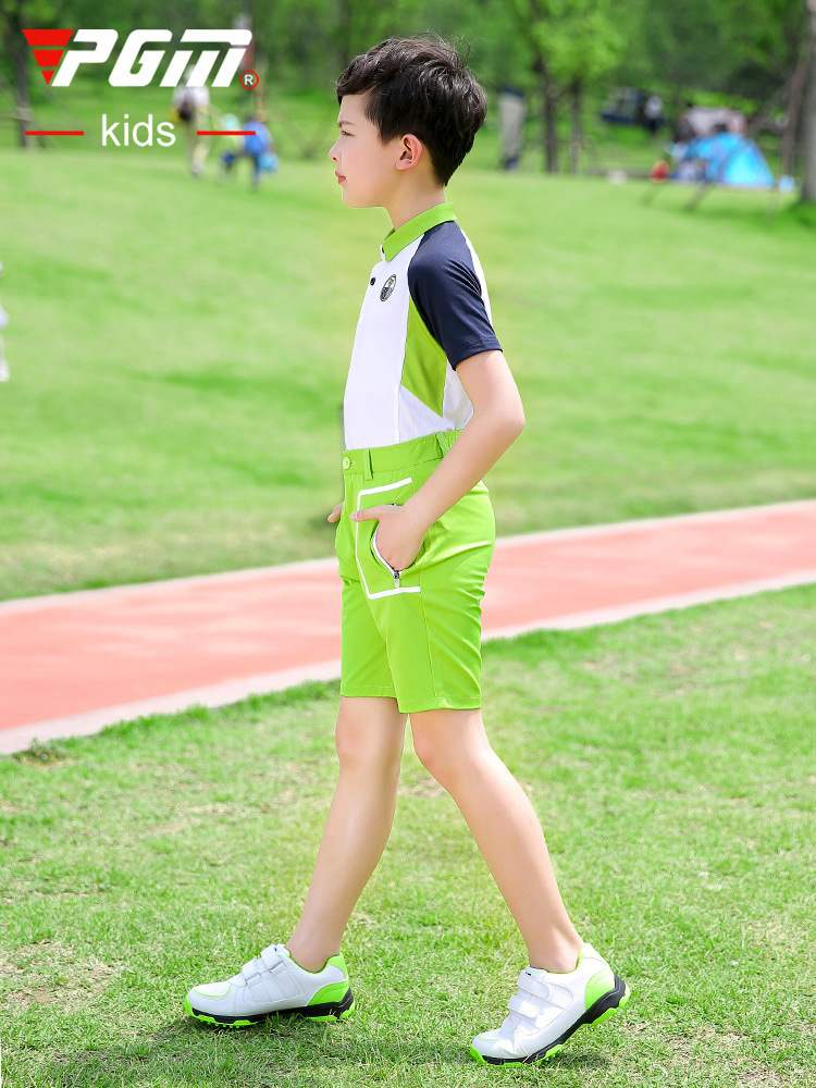 New PGM childrens Golf suit childrens clothes boys short sleeve T-shirt short pants youth summer suit