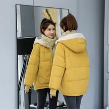 宽松羽绒棉服休闲学生小个子外套2019冬季 大码 棉袄 棉衣女短款 韩版