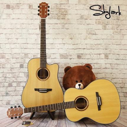需要用券金雀牌skylark吉他单板民谣电箱琴