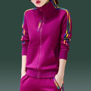 中年人休闲运动套装女春秋2020新款中老年妈妈秋装洋气时尚两件套