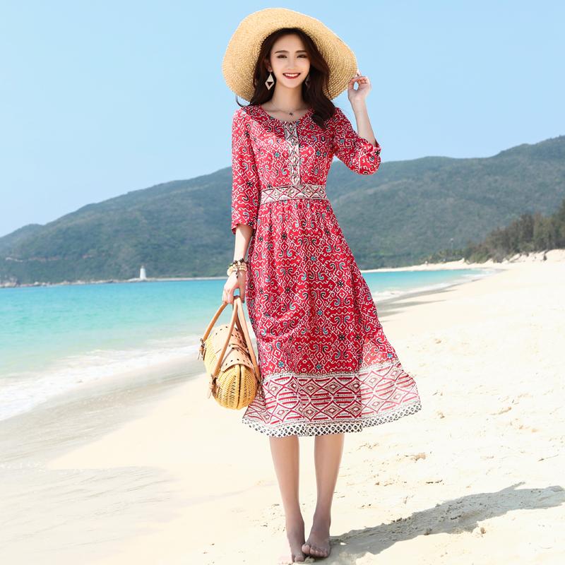 双绉连衣裙品牌直销