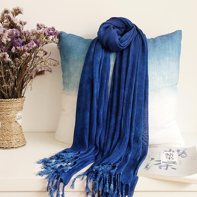 Guizhou batik scarves, cotton, pure plant, blue dye, versatile literature and art, travel gifts, shawls for men and women