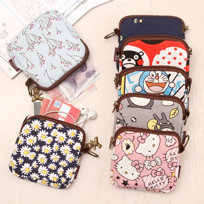 Childrens wallet for new years day with mini cute Korean key bag fabric canvas small bag student coin coin coin pocket